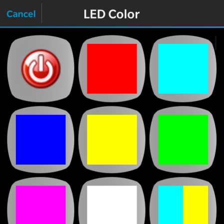 Một số màu led có thể chọn